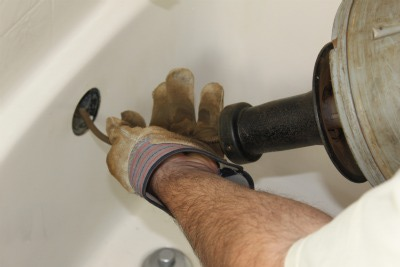 Tub drain snake cleaning