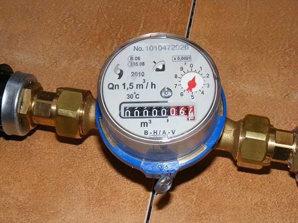 a water meter in ca